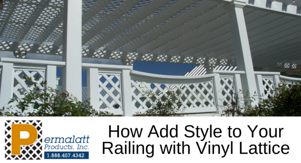 How Add Style to Your Railing with Vinyl Lattice