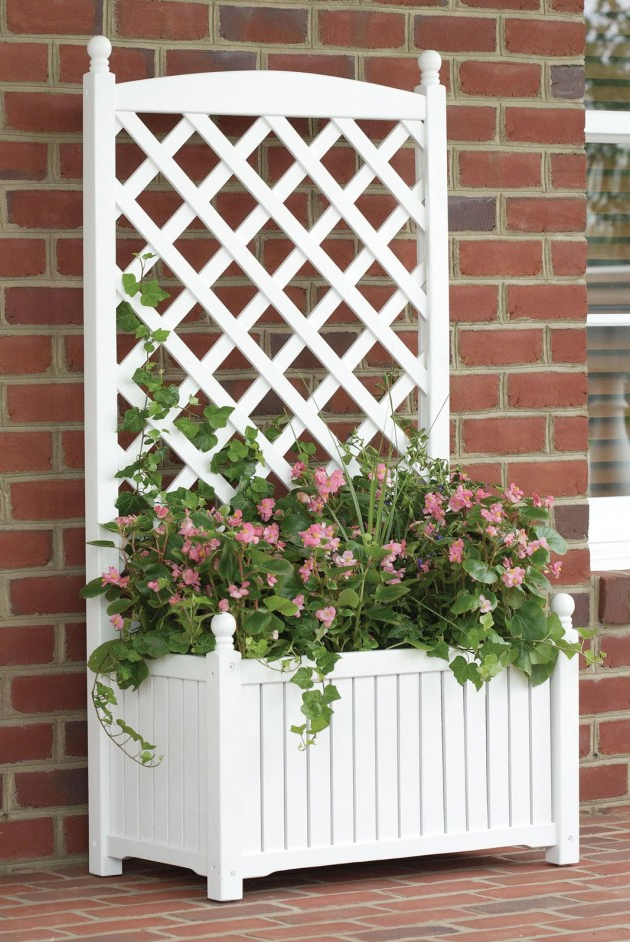 garden lattice ideas planter box