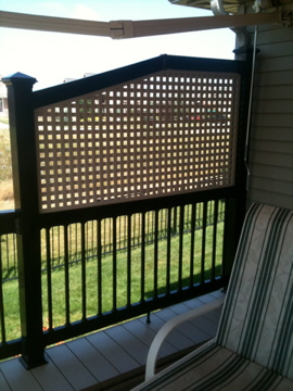 Lattice for Privacy in a Manufactured Home Park