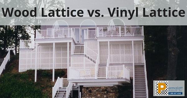 Wood Lattice vs. Vinyl Lattice