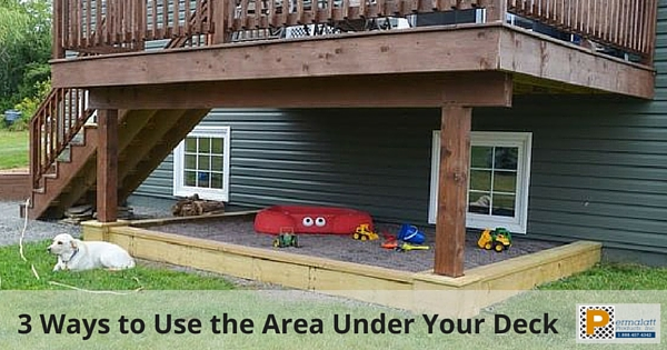 3 Ways to Use the Area Under Your Deck