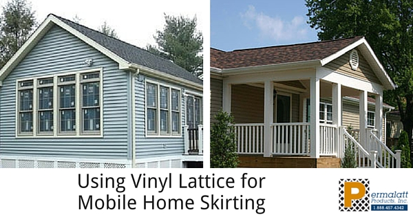 Using Vinyl Lattice for Mobile Home Skirting