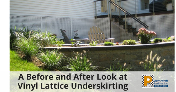 A Before and After Look at Vinyl Lattice Underskirting