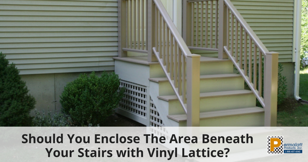 Should You Enclose The Area Beneath Your Stairs with Vinyl Lattice-1