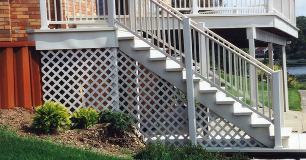Should You Enclose The Area Beneath Your Stairs with Vinyl Lattice-3