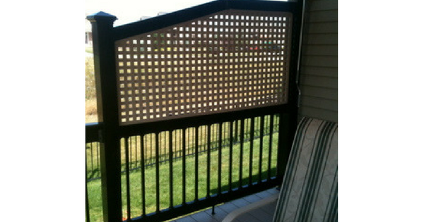 Adding a Lattice Privacy Screen to Existing Deck Railing-2