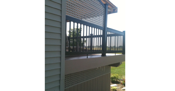 Adding a Lattice Privacy Screen to Existing Deck Railing-6