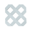 "Decorative 3D 1-7/8"" Diagonal Lattice - 12"" X 8' Sheet"